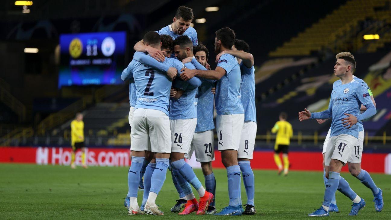 Man City oust Dortmund to reach UCL semis