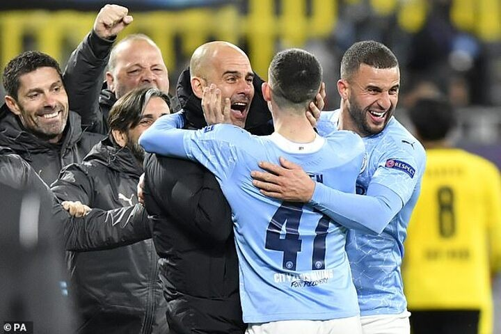 Pep Guardiola lauds Man City for 'building history' after reaching Champions League semi-finals