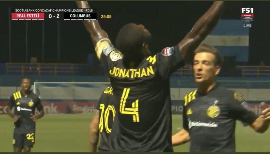 VIDEO: Jonathan Mensah scores as Columbus Crew thump Real Esteli in CONCACAF Champions League