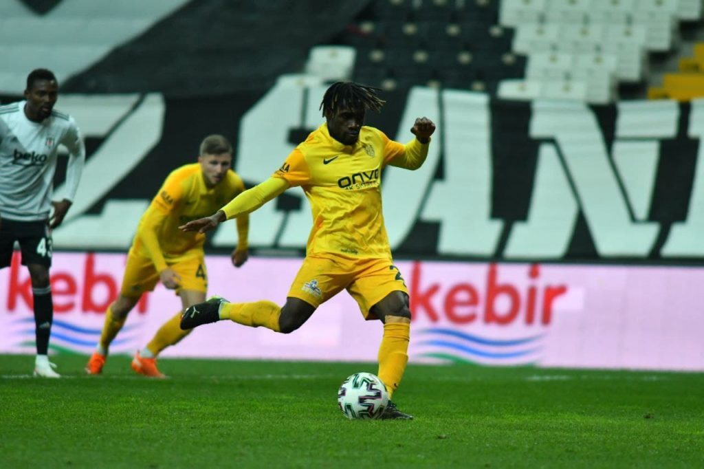 Joseph Paintsil scores twice as Ankaragucu rally to hold high-flying Besiktas