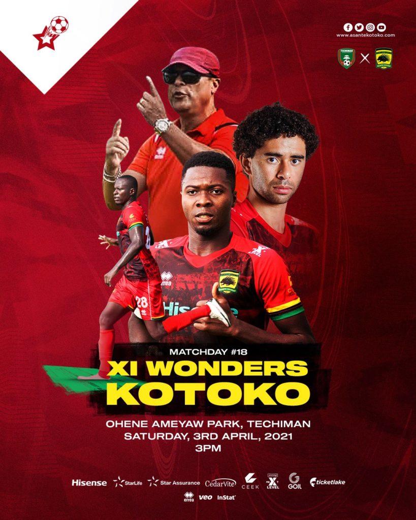 2020/21 Ghana Premier League: Live Updates- Eleven Wonders 1-1 Asante Kotoko
