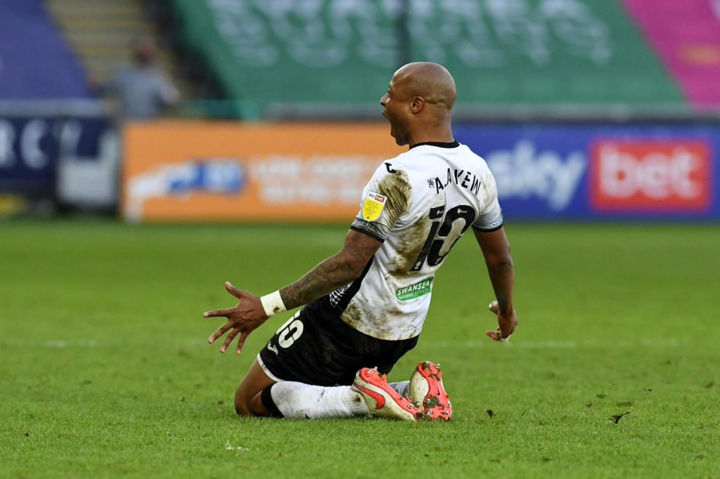 Ghana captain Andre Ayew scores and provides assist as Swansea City return to winning ways in the Championship