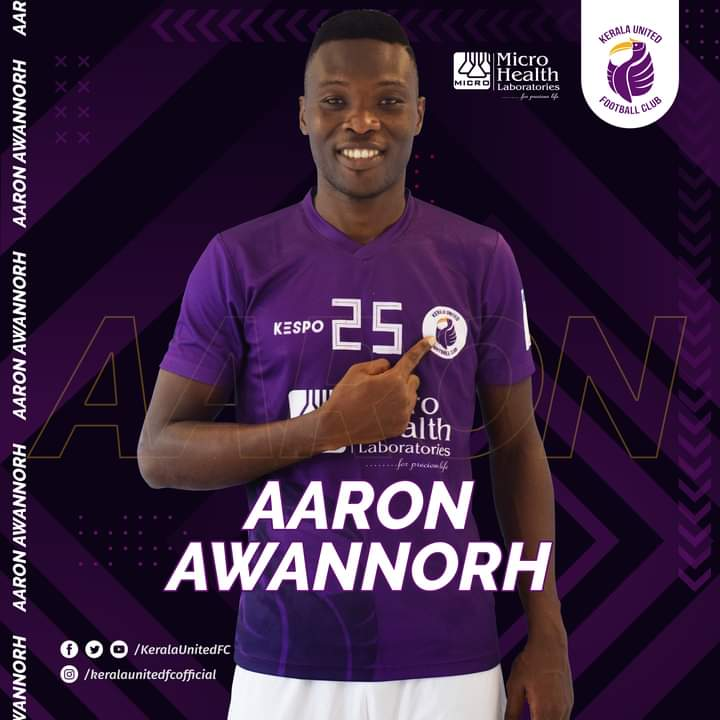 Indian club Kerala United announce signing of Ghanaian forward Aaron Awannorh from Tema Youth