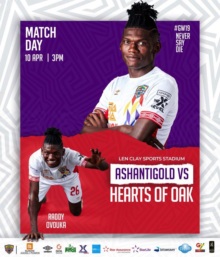 2020/21 Ghana Premier League: Live Updates- AshantiGold 1-0 Hearts of Oak