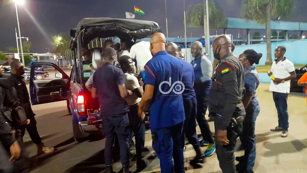 Football fans arrested at Accra Sports stadium for breaching COVID-19 protocols
