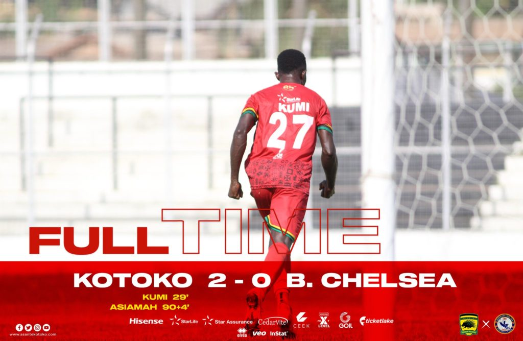 VIDEO: Watch Highlights of Asante Kotoko win over Chelsea to go top of GPL