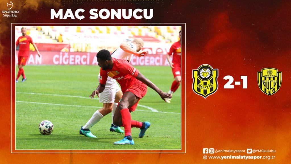 Benjamin Tetteh's fifth league goal gives Yeni Malatyaspor victory in Turkish Super Lig