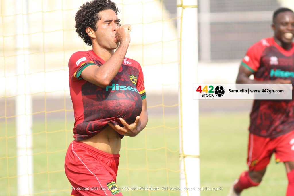 VIDEO: Asante Kotoko star Fabio Gama dedicates second league goal to pregnant wife