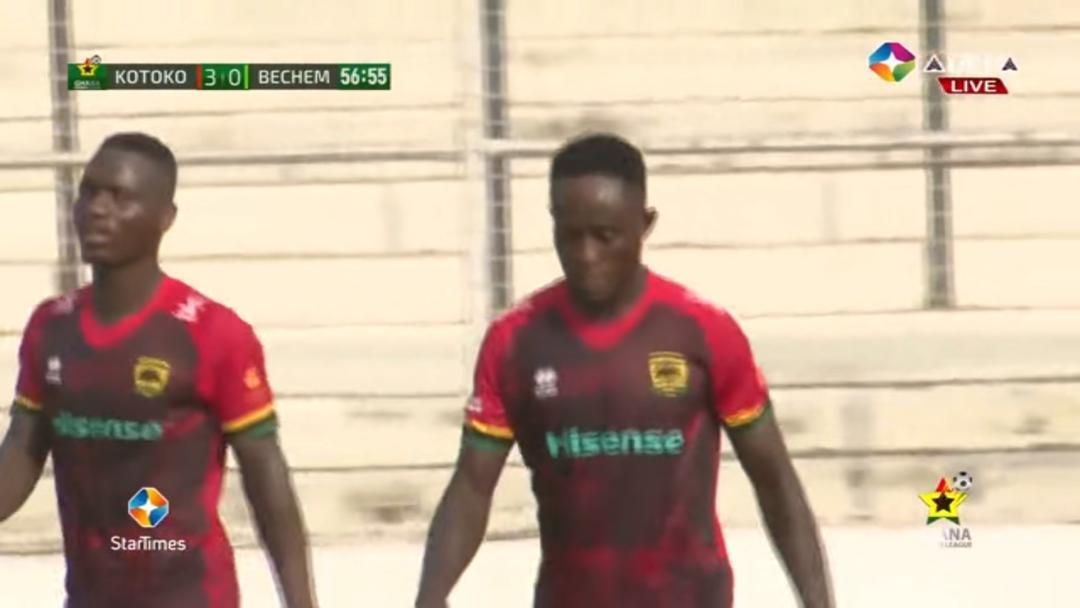 Asante Kotoko new boy Francis Kumi opens scoring account on full debut
