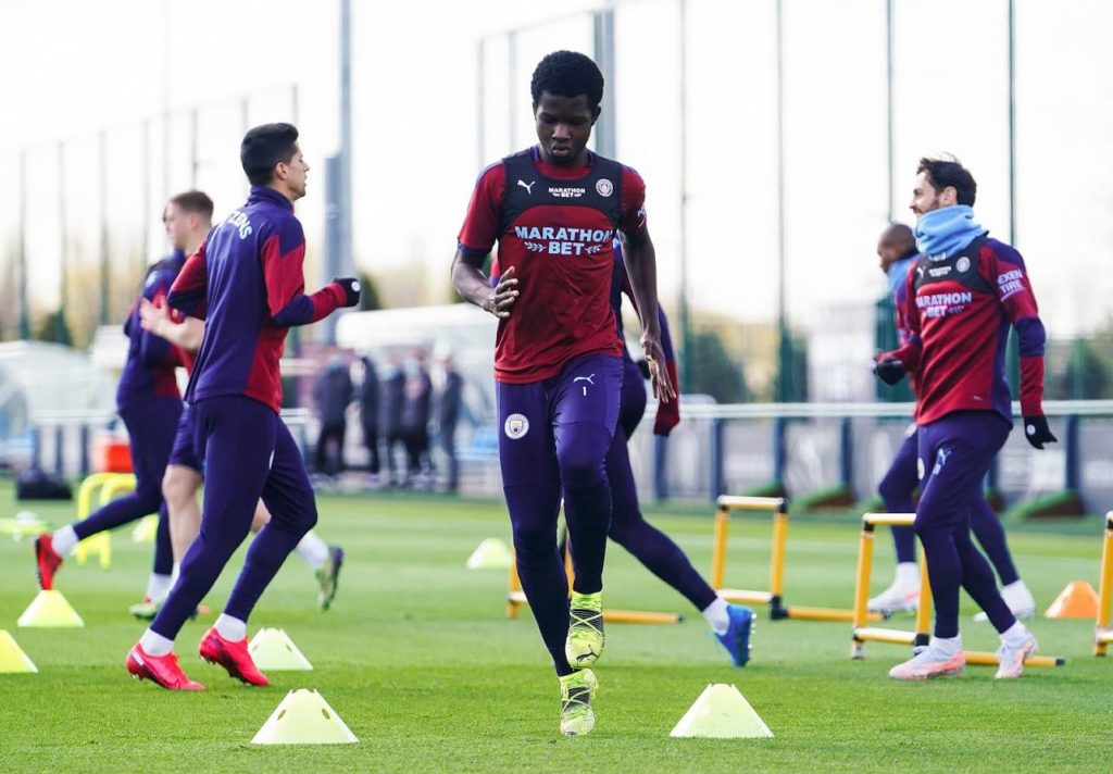 EXCLUSIVE:  Ghanaian youngster Kwaku Oduroh trains with Manchester City senior team for the first time