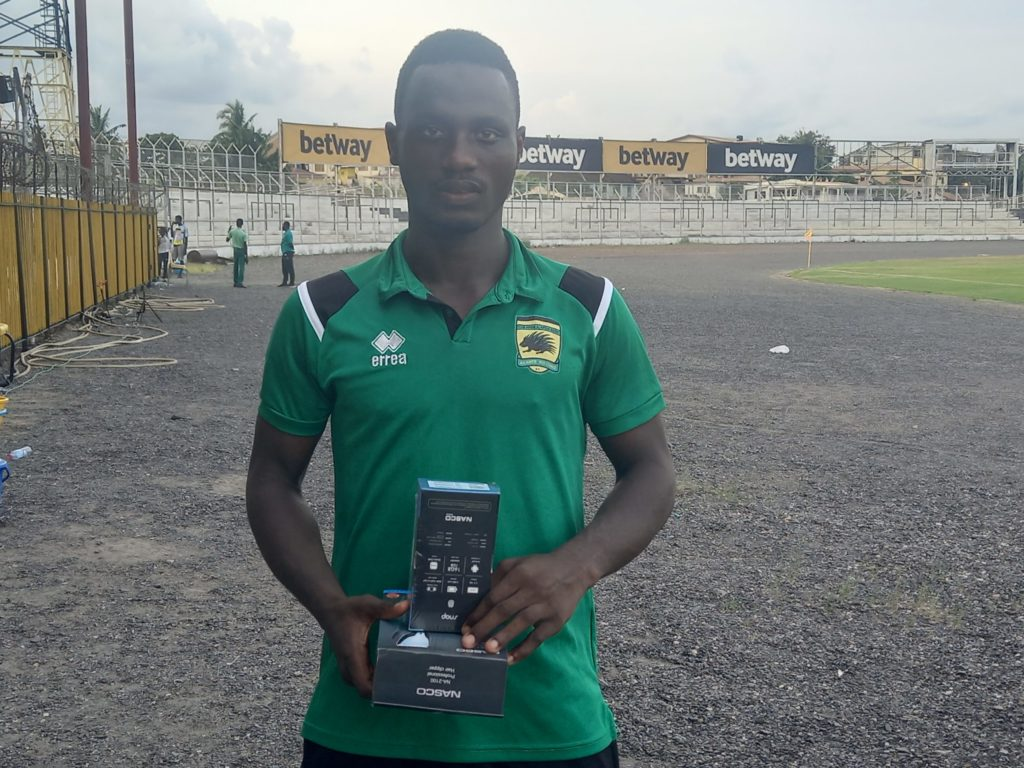 2020/21 Ghana Premier League: Asante Kotoko workaholic midfielder Mudasiru Salifu picks MOTM award in win against Dreams FC