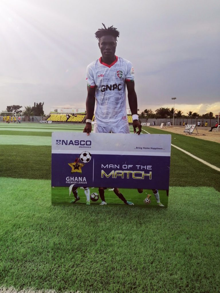 2020/21 Ghana Premier League: Karela United defender Augustine Randolph named MoTM in victory over Bechem United