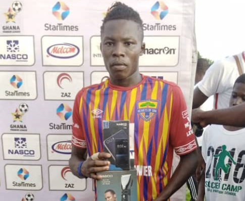2020/21 Ghana Premier League: Hearts of Oak mercurial midfielder Salifu Ibrahim wins MVP award for the second time in a row
