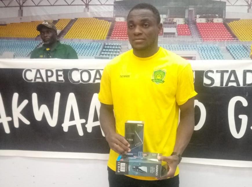 2020/21 Ghana Premier League: Ebusua Dwarfs skipper Dennis Nkrumah Korsah wins MVP award in draw against Dreams FC
