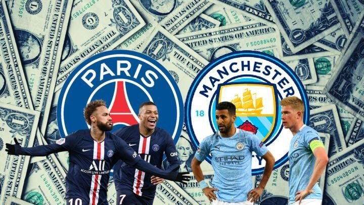 Manchester City - PSG: how much money have both clubs spent in recent years?