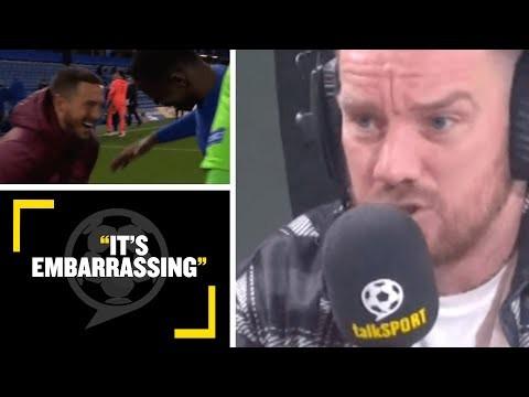 """IT'S EMBARRASSING!"" Jamie O'Hara SLAMS Eden Hazard for laughing with Kurt Zouma after CL defeat"