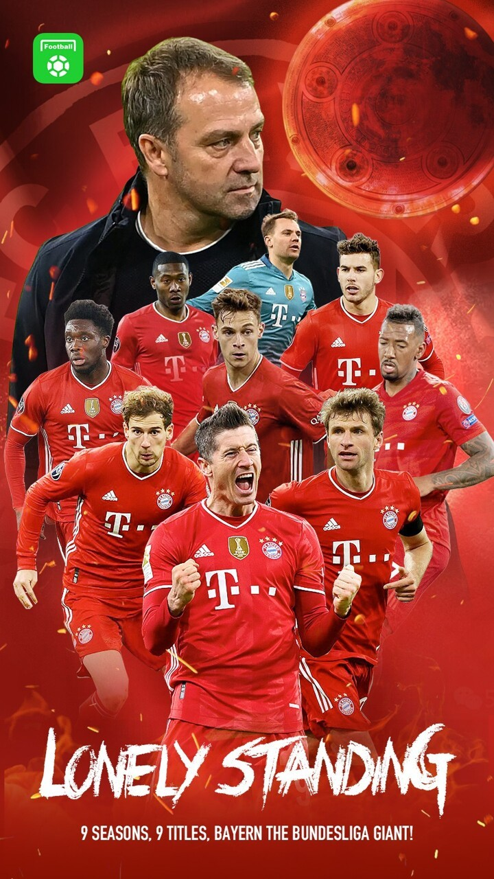 AF POSTER: Lonely Standing! Bayern win their 9th consecutive Bundesliga title