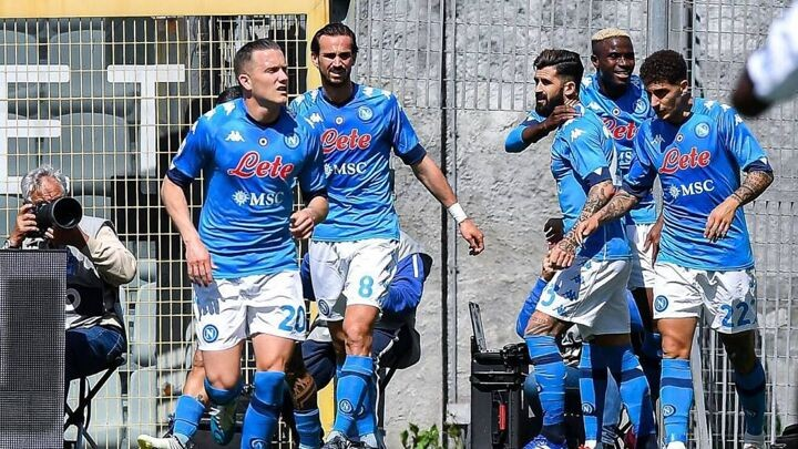 Osimhen double helps lift Napoli second in Serie A
