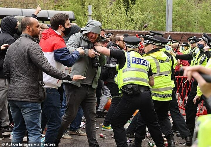 Manchester United: Supporter says he will be back for more protests after being 'beaten' by police