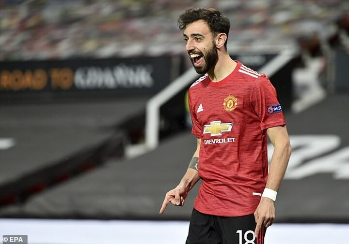 Bruno Fernandes hailed for helping to inspire Manchester United to the cusp of success this season