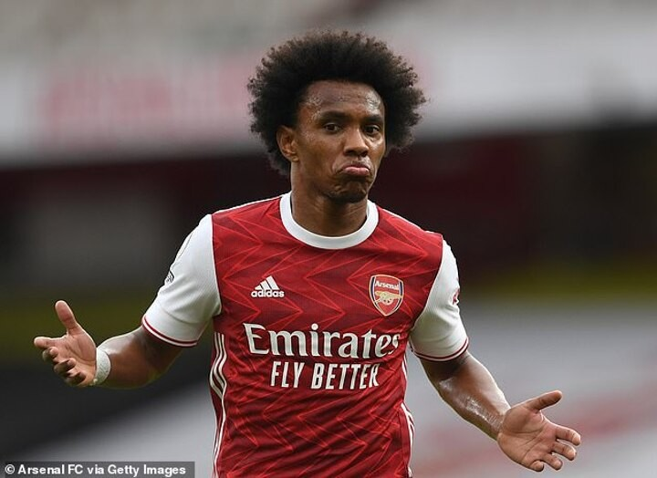 'West Brom relegated for letting Willian score': Twitter goes wild after star's first Arsenal goal