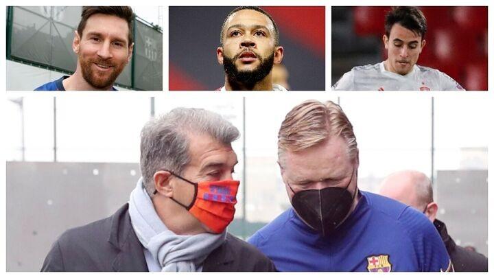 The Laporta show begins: Koeman, Messi, Aguero... sales?