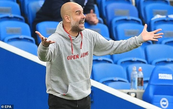 Pep Guardiola insists his Manchester City team 'have to improve' after blowing lead at Brighton