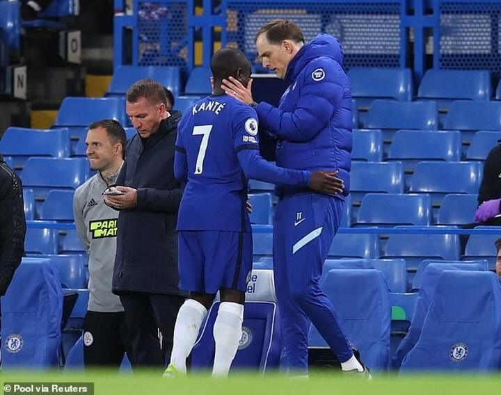 Tuchel allays Kante injury fears and says he has 'good feeling' midfielder will be fit for Sunday
