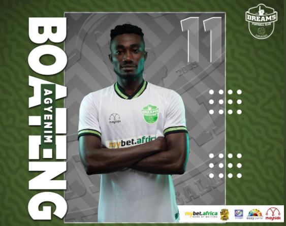 2020/21 Ghana Premier League: Dreams FC forward Agyenim Boateng wins MoTM against Liberty Professionals