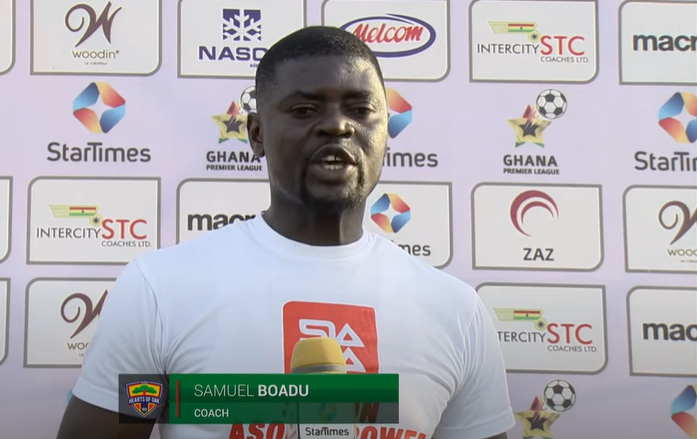 Hearts coach Samuel Boadu blames Nuru Sulley's red card for defeat to Dreams