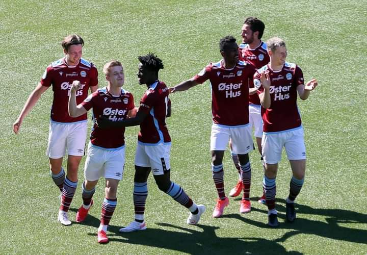 VIDEO: Watch Michael Baidoo's first goal for Norwegian outfit Sandness Ulf