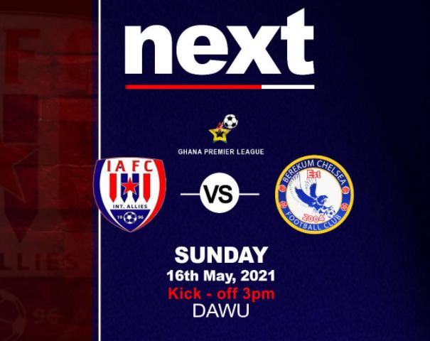 2020/21 Ghana Premier League: Week 25 Match Preview- Inter Allies vs Berekum Chelsea