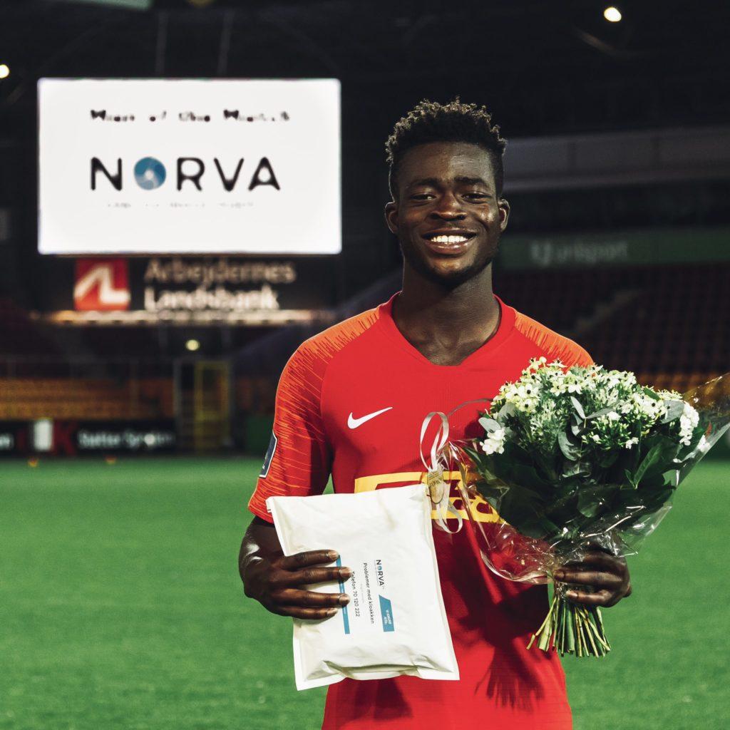 FC Nordsjaelland star Kamal-Deen Sulemana named in Danish 'team of the month' for April