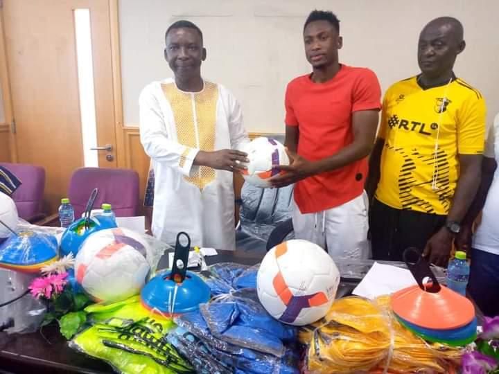 PHOTOS: Ghana & Chelsea defender Baba Rahman makes huge donation to Northern Regional FA