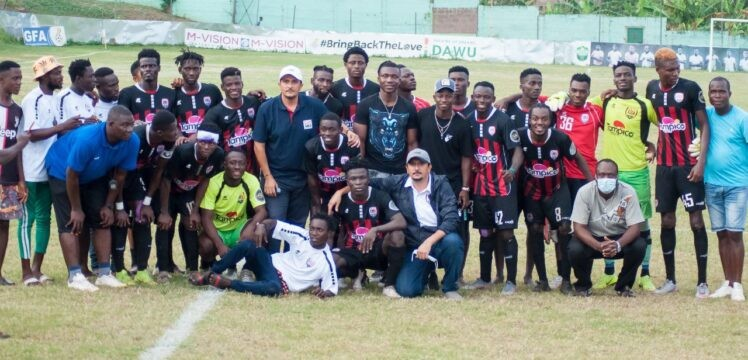 Joseph Aidoo visit inspires first team