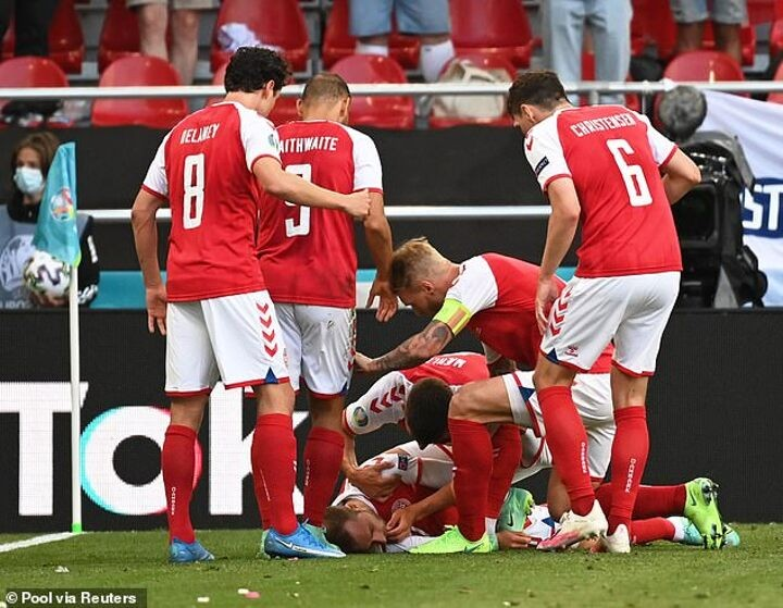 Football stunned as Christian Eriksen collapses during Euro game against Finland