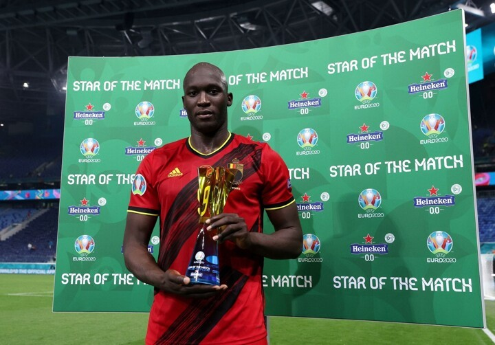 Without a doubt, Lukaku is UEFA's Star of the Match in Belgium vs Russia