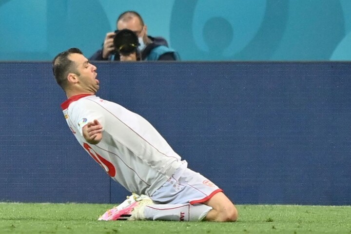 HT: Austria 1-1 North Macedonia. Pandev's goal cancels out Lainer opener