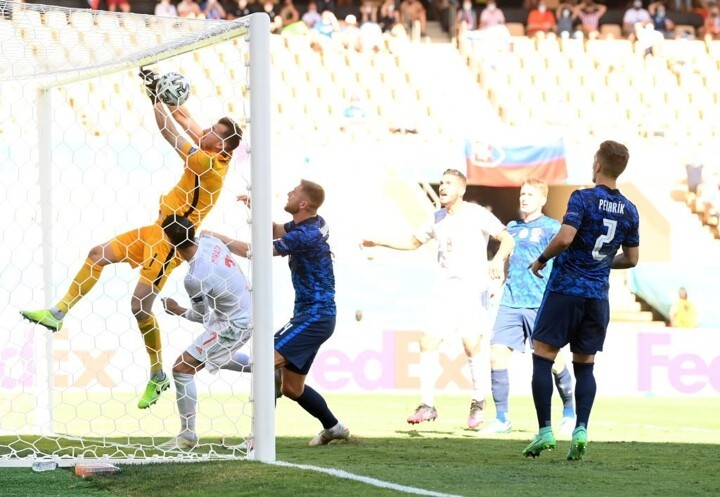Dubravka has scored the seventh own goal of EURO 2020