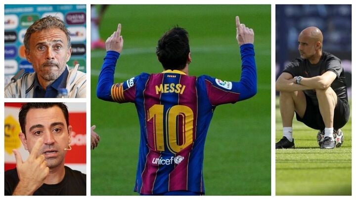 Guardiola and Luis Enrique compare Messi to Shakespeare and Dali: There are players who last for centuries