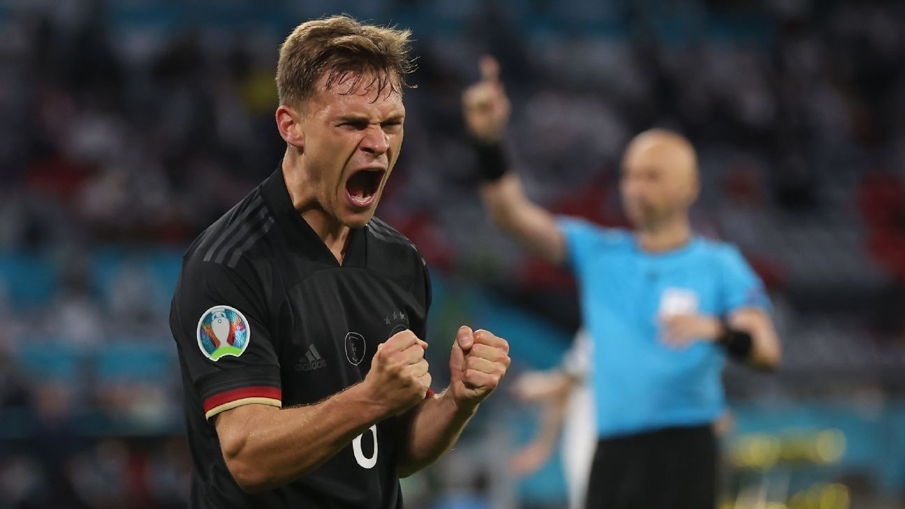 Germany advance after late draw to Hungary