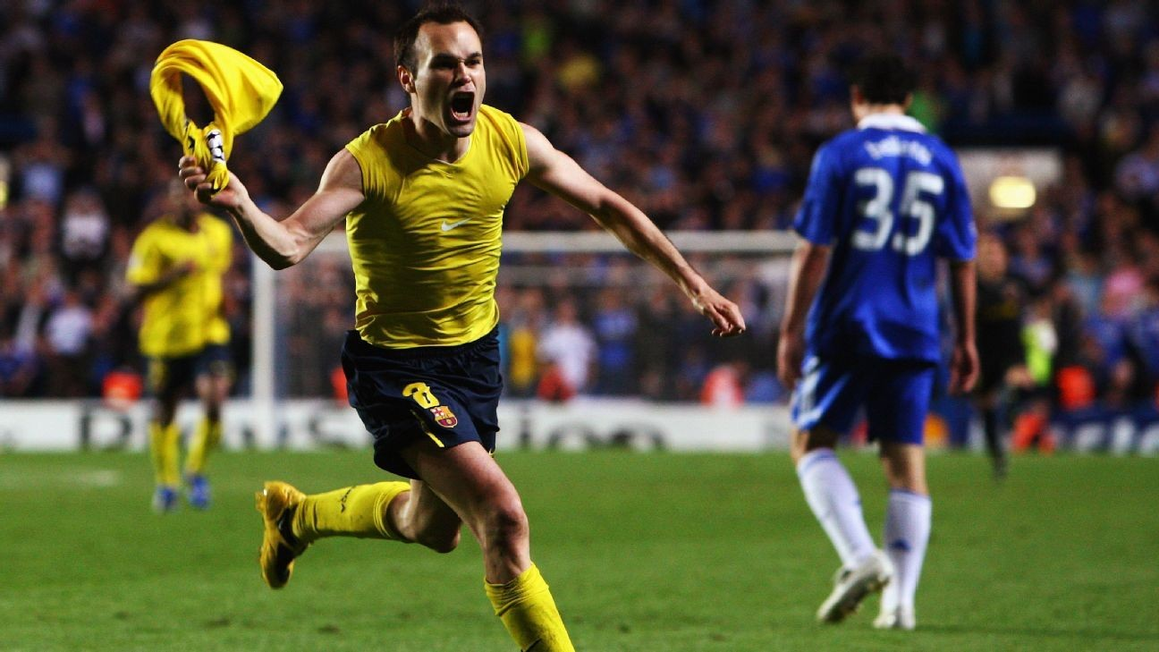 Iniesta vs. Chelsea leads the Champions League's greatest away goals