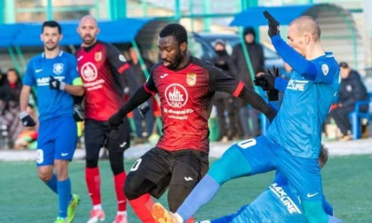 VIDEO: Watch Dennis Tetteh sublime strike for Slavia Mozyr against Isloch