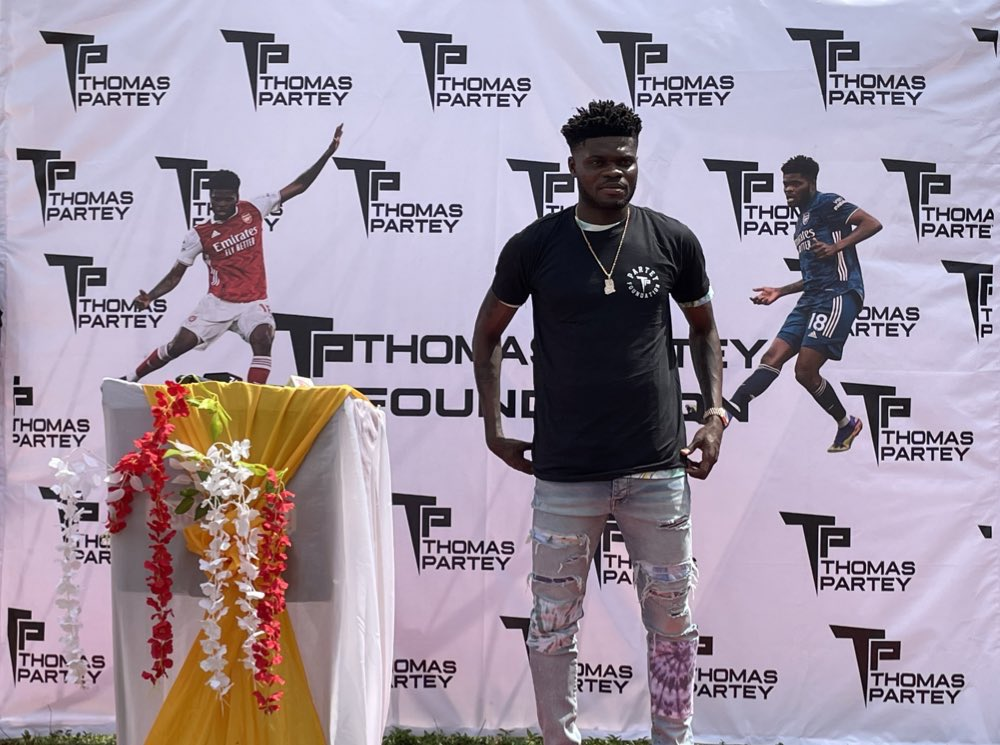 Arsenal star Thomas Partey launches foundation in his hometown