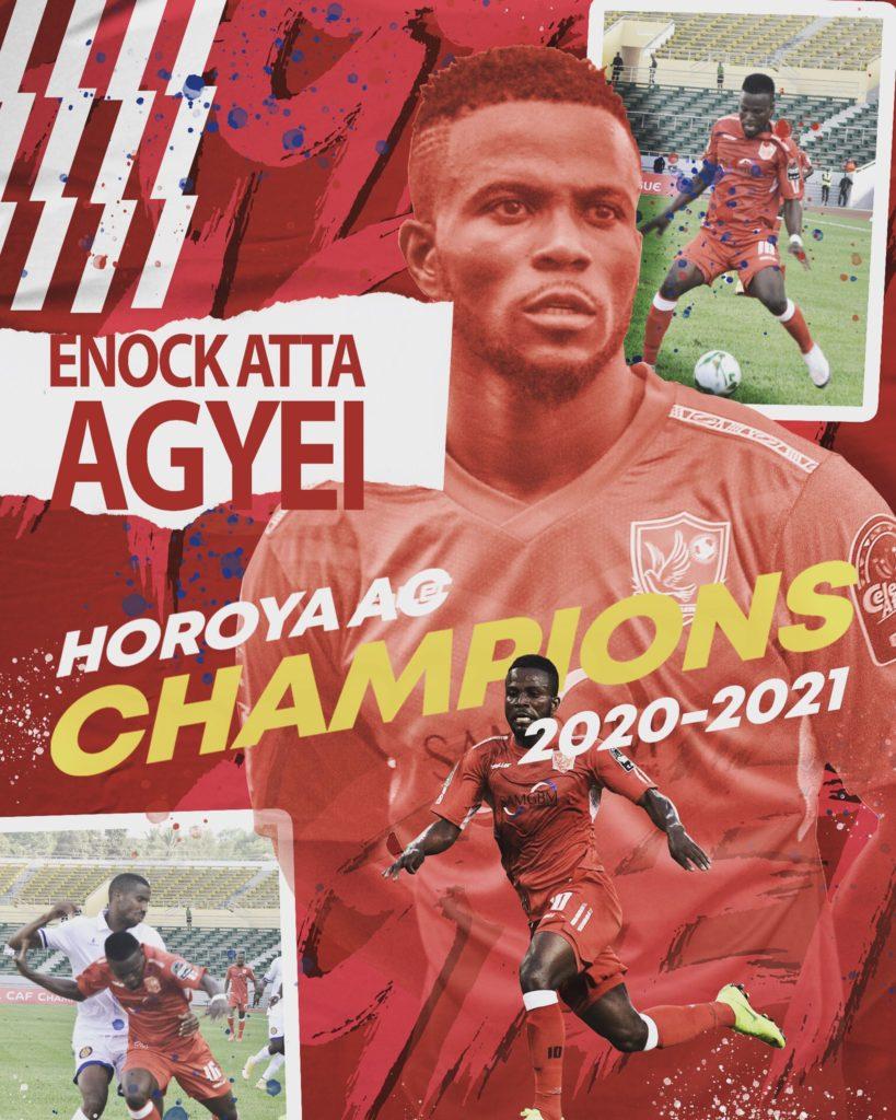 Ghanaian forward Enoch Atta Agyei clinches Guinea Premier League title with Horoya AC