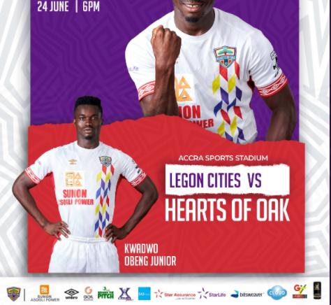 2020/21 Ghana Premier League: Live Updates - Legon Cities vs Hearts of Oak