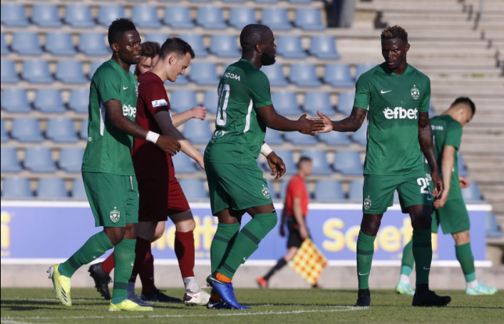 Ghanaian forward Elvis Manu on target for Ludogorets in preseason friendly