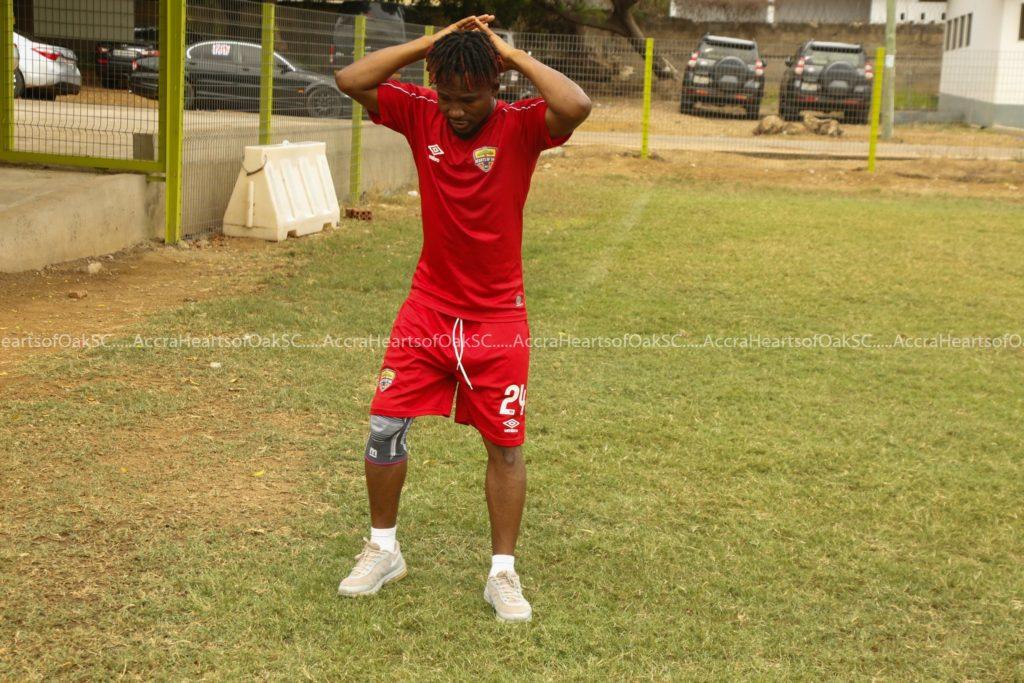 Hearts of Oak midfielder Abdul-Aziz Nurudeen returns to training after FOUR-month injury layoff