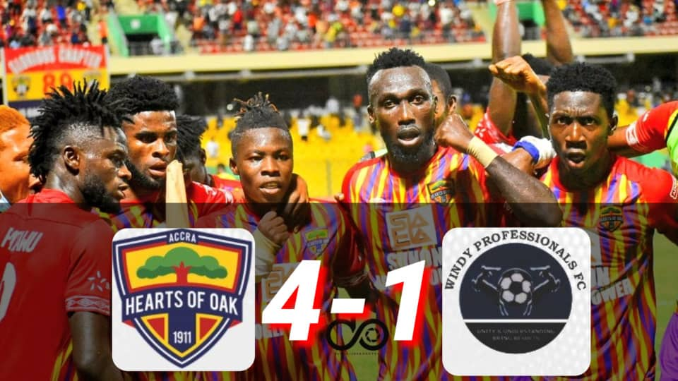 VIDEO: Watch how Hearts of Oak smashed Windy Professionals 4-1 in the MTN FA Cup