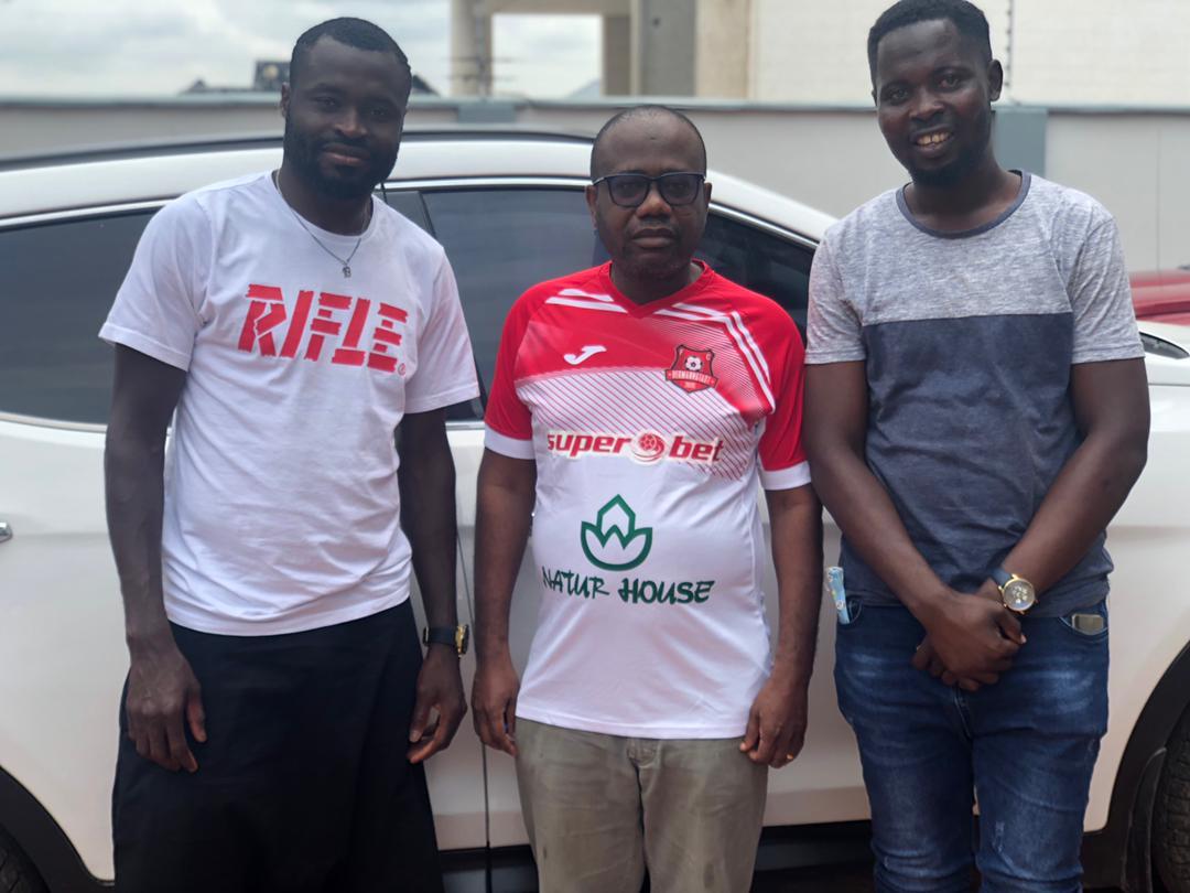 FIFA U20 World Cup winner pays courtesy call on ex-GFA prez Kwesi Nyantakyi